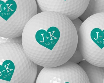 Custom Golf Ball Wedding Favor, Personalized Golf Balls Bulk Pricing 50 100 200 250 300 - Design 55
