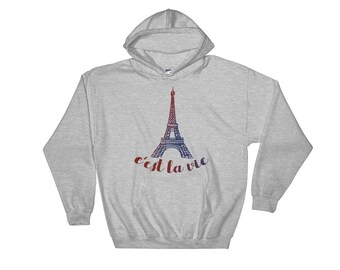 Paris hoodie | eiffel tower sweatshirt | Europe hoodie | travel hoodie | vacation shirt | France Hooded Sweatshirt