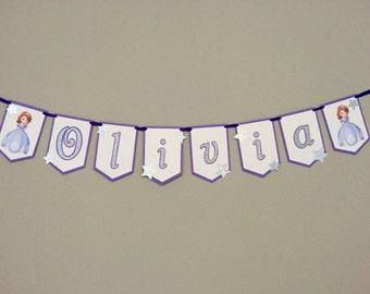 Sofia the First • Princess • Happy Birthday Banner • Royal Celebration • Party Decoration