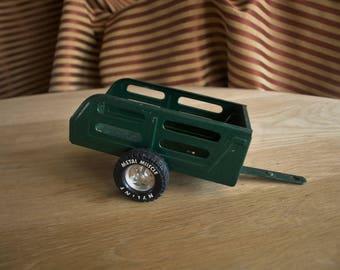 Vintage Nylint Metal Muscle Pressed Steel Utility Trailer GREEN WAGON