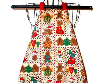 Child's Apron Gingerbread Cookies 2T to 4T Reversible for Year  Round Wear