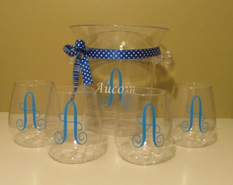 Personalized Ice Bucket with Cups