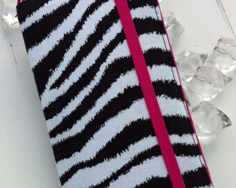 Samsung Galaxy wallet case - Zebra and hot pink with removable gel case