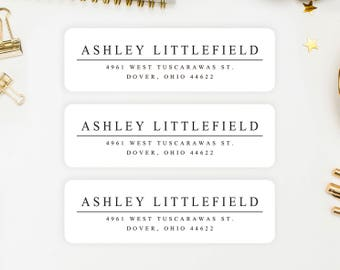 Address Labels / Classic Personalized Return Address Labels / Custom Address Labels / Address Sticker / Address Label Sticker / Ashley