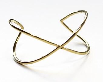 X Cuff brass