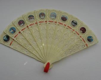 Collectible Souvenir Fan// Mid Century India Souvenir//Sayonara