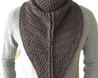 Men Scarf / Crochet Mens Scarf / Mens Gift / Gift For Men / Crochet Cowl for Men /