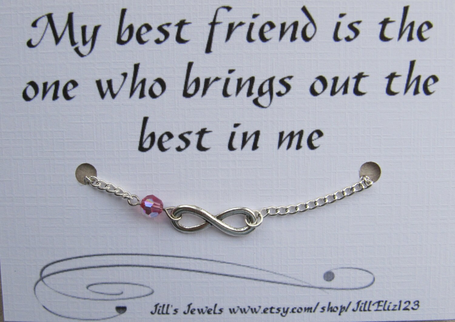 Infinity Quotes Best Friend Bracelet Best Friend Gift Infinity Charm