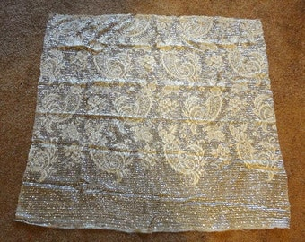 4 Pieces  Remnants for Projects  1950s Couture  Hand Beaded and  Hand Sequinned