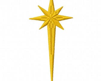 Star Machine Embroidery Design - Instant Download