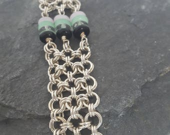 2 in 2 triple link chainmail bracelet
