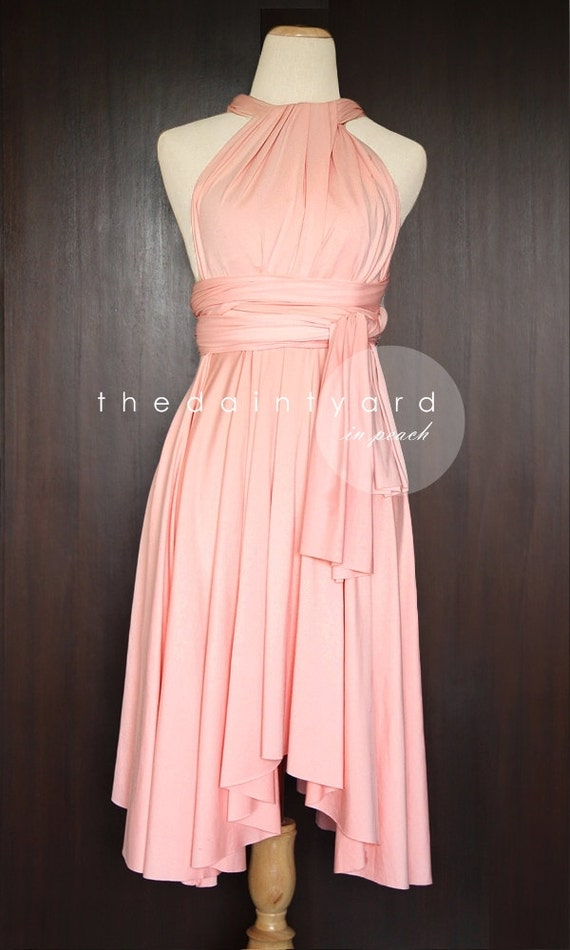 Peach Bridesmaid Dress Convertible Dress Infinity Dress