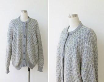 Vintage Cardigan Sweater Womens Cardigan Mohair Sweater Plus Size Sweater Cardigan Woman Knit Plus Size Soft Wool Sweater XL XXL