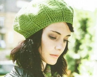 Instant Download - PDF-  A lovely Beret Style Hat Crochet Pattern (CA21)