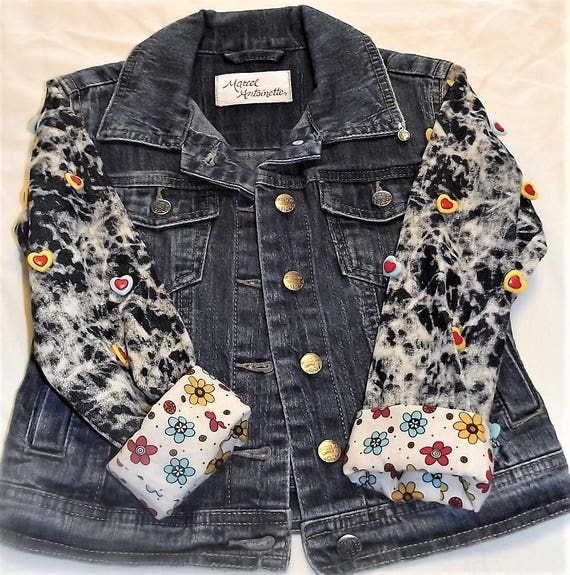 Refurbished Denim Girls Jacket, Size-6