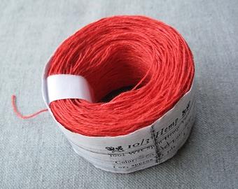 Scarlet 10/3 Hemp Yarn