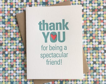 Letterpress Card - Thank You Friend