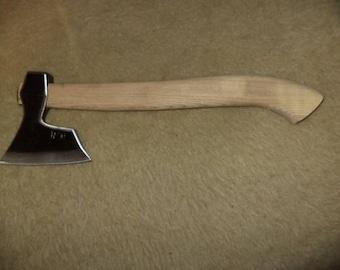 Wrought bearded throwing axe viking tomahawk hatchet hunting tool