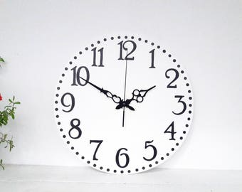 wall clock 14 inch white clock wood wall art
