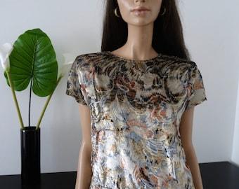 Vintage Brocade lurex blouse size 38/40 - uk - 10/12 us 6/8