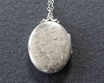 images collection necklace vintage and on swirl bonnies hallmark s flower extra rosywl sterling birks best chain etched bonnie scroll large lockets pinterest locket oval floral silver