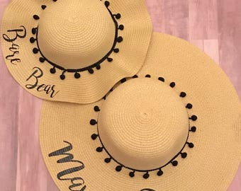 Mommy and Me Floppy Hats l Mother Daughter Hats l Matching Hats l Mama Bear Hat l Custom Floppy Hats l Personalized Hats l Custom Hats