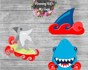 Period Shark Planner Stickers