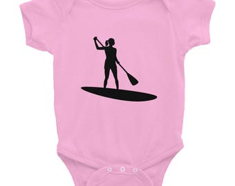Stand Up Paddleboard Chick Infant Bodysuit