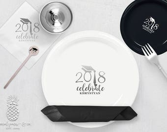 Personalized Graduation Plates, Napkins, Cups or Stir Sticks