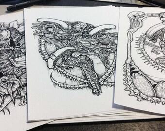 alien versus predator art prints