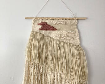 Woven Wall Hanging in Blush Patch