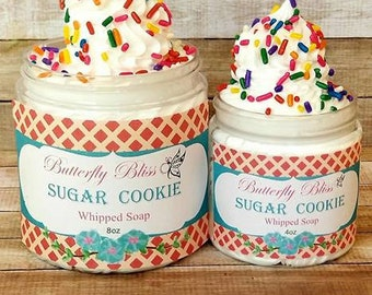 Sugar Cookie Whipped Soap | Sugar Whipped Soap | Whipped Soap | Shave soap | Sugar Scrub | Bath and Body | Exfoliating soap | Soap