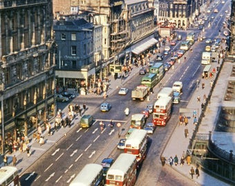 Photographic print - Princes Street, Edinburgh 1966