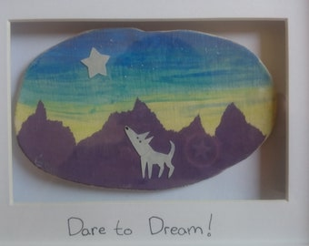 Lucky's Star - 'Dare to Dream' Ceramic Painting Frame