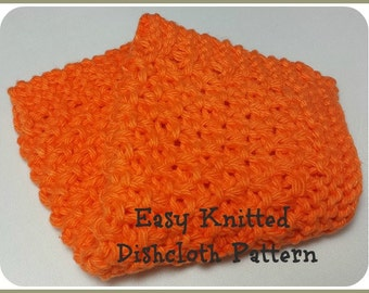 Knit Dishcloth Pattern Knitted Dish Rag Wash Cloth Face Cloth Extended Seed Stitch
