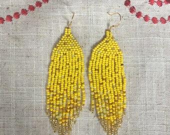 Sunshine Ombre Beaded Earrings