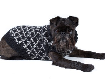 Diamond in the Ruff Pure Wool Puppy Sweater - made to order