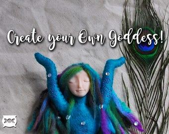 Create your OWN GODDESS!  Love   Magic   Spirit Doll   Wiccan Altar Decor   Nature Goddess Pagan Art  