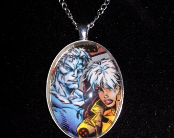 Marvel X-Men Rogue & Ice-Man Large Pendant