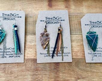 Miss Matched Tribal Arrowhead Earrings