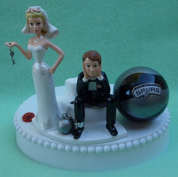 Wedding Cake Topper San Antonio Spurs Basketball Themed SA