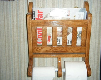 toilet roll holder and magazine rack