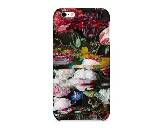 Glitch Flower Pattern Surreal Mix Phone case for / iPhone / Huawei /Samsung Galaxy