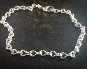 Handmade Fine Silver Sailor Chain Bracelet or Necklace