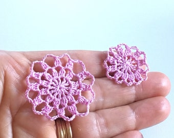 Miniature doilies, set of 2, 1/12 one inch scale, handmade, 3 colour variations