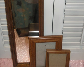Wood picture Frame  and Mirror