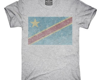 Retro Vintage Democratic Republic Of The Congo Flag T-Shirt, Hoodie, Tank Top, Gifts
