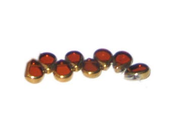 8 x 10mm Deep Gold Vintage-Style Teardrop Glass Bead, approx. 9 beads