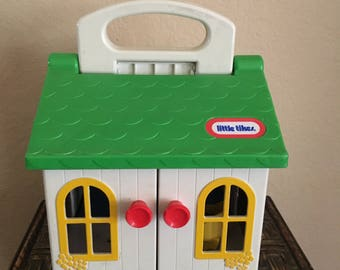 Good Vintage 80s Little Tikes Playhouse Cottage, Doll House, Opens Up 80u0027s Toy,