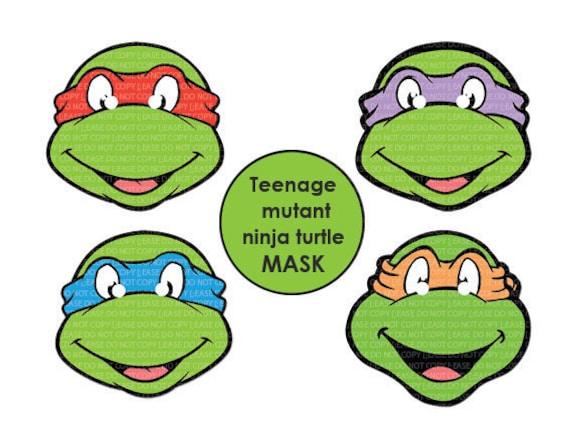 Instant Dl Teenage Mutant Ninja Turtles Mask Printable